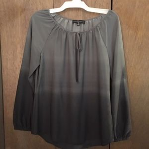 Gray gradient top, Fred David, size medium